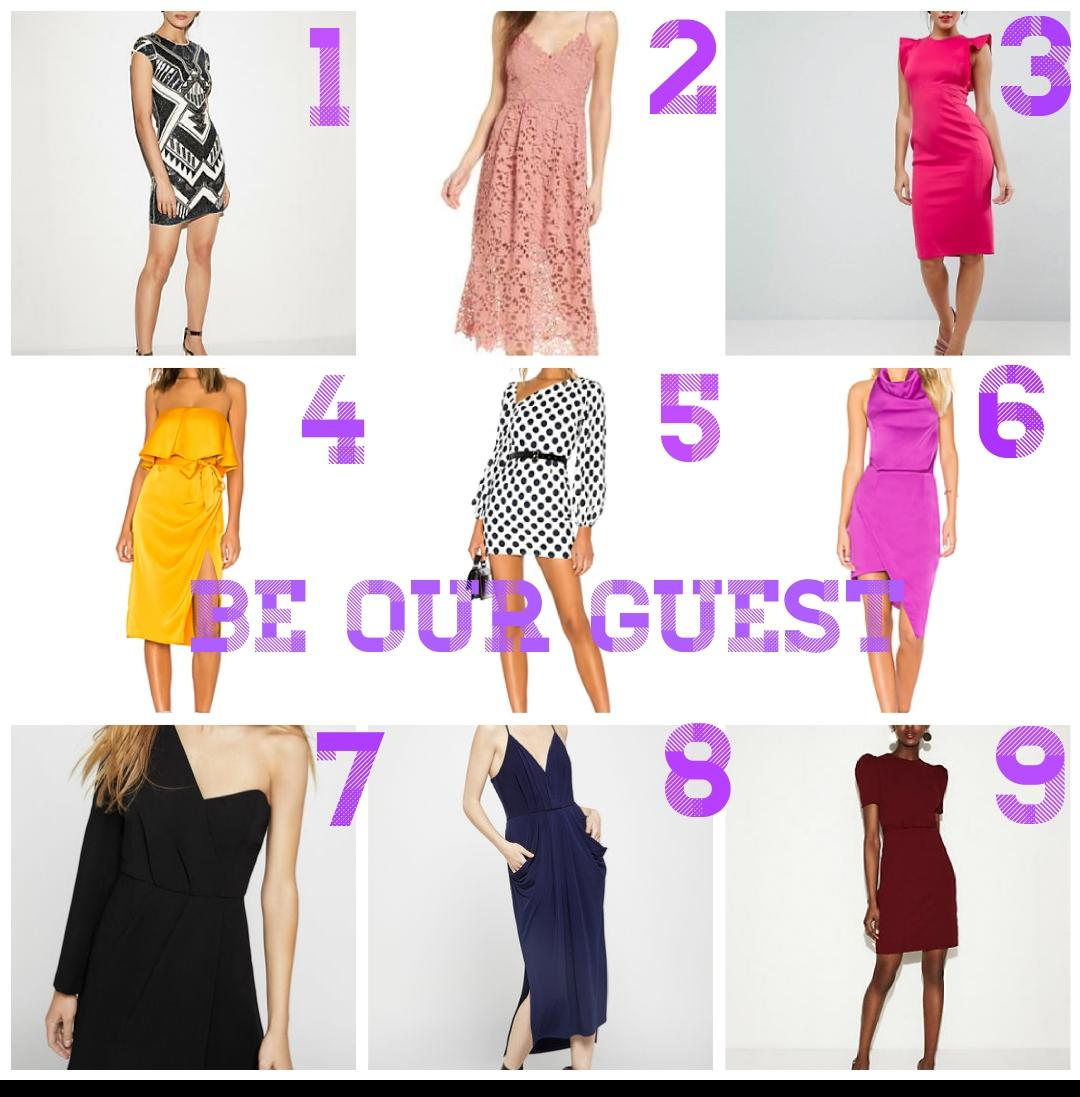 Wedding dress guest dresses
