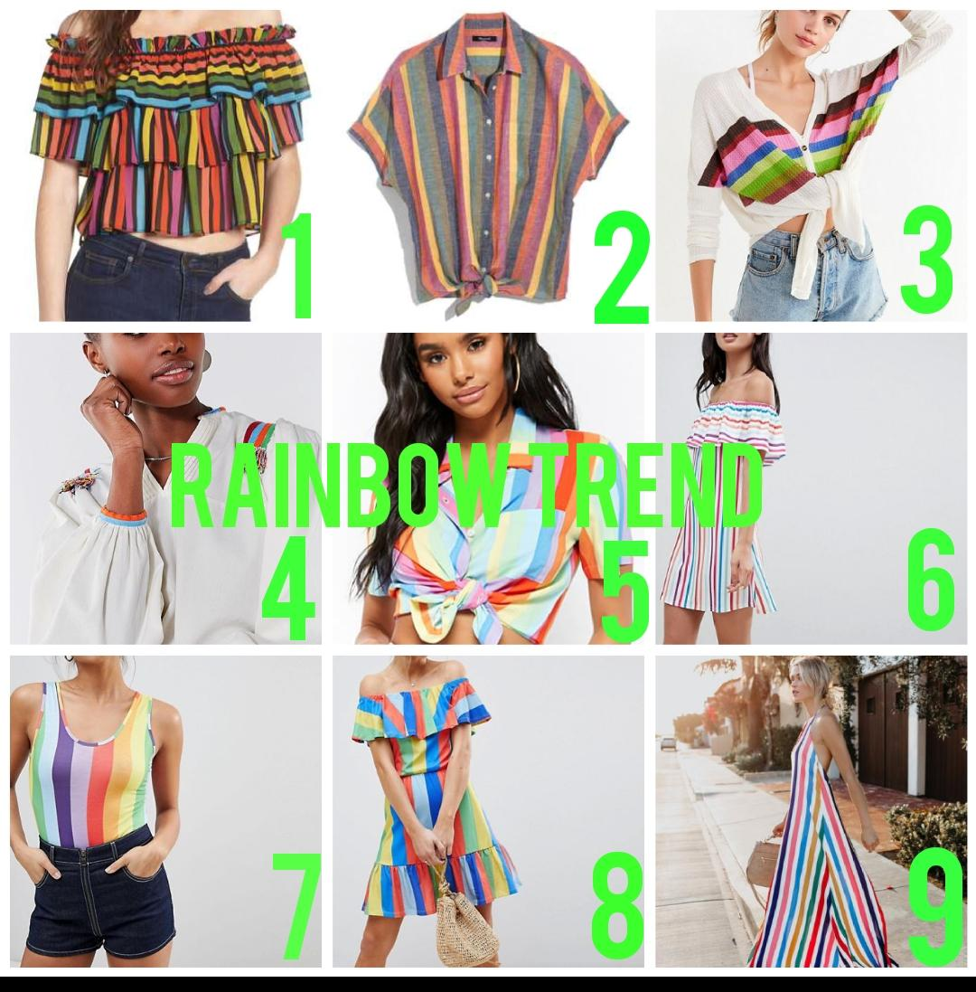 Rainbow trend collage